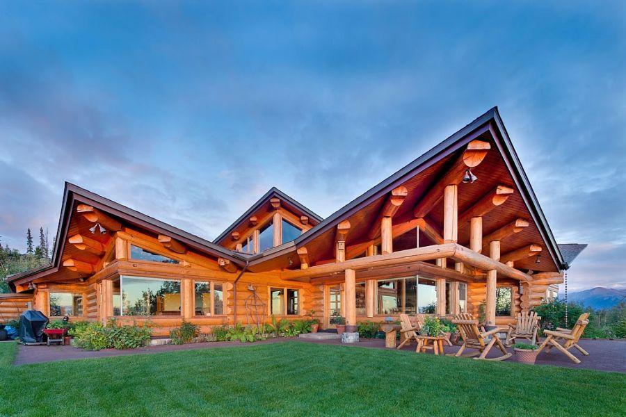 Press roundwood log homes for Home builders in alaska