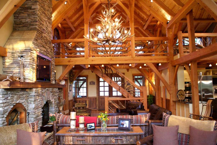 attractive-timber-frame-interior-campt-stone-houzz2